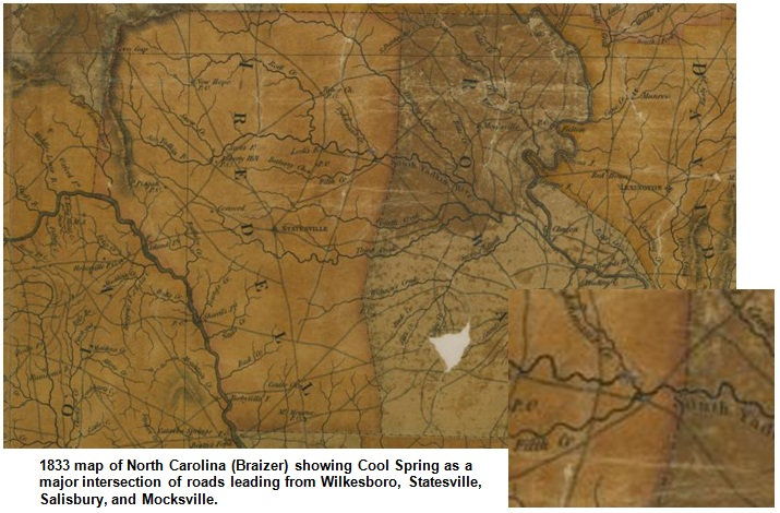 As Early As 1829 A Road From Statesville To Mocksville Established In 1839 Took Travelers Directly Through The Area The Old Road Path Is Still Closely