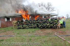 The Cool Springs Fire Department family photo is a hot one!