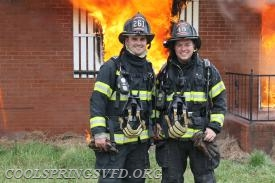 Firefighters Matt Talbert and Leo Hayes.