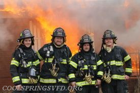 Firefighters Josh Miller, Jason Mullins, Anthony Weston and Kendall Bowman.