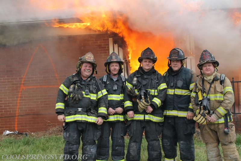The crew lighting the fires and keeping the crews safe. Fire Chief Andy Webster, Captain Maury Jenkins, Captain Jonathan Teague, Captain Aaron Kennedy and Engineer Tyson Wagoner