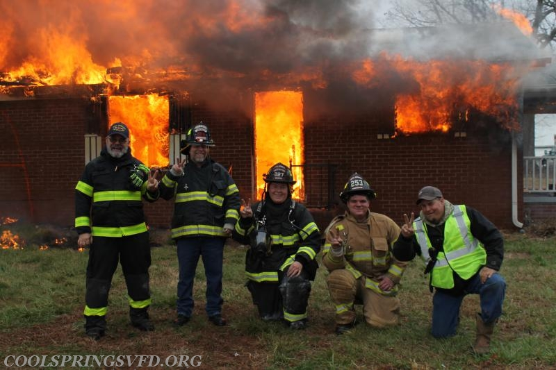 "The Crew from The Deuce! Firefighter Jim Wilson, Engineer Brad ""B-Rad"" McLaughlin, Firefighters Drye and McEvoy with Engineer Matt Baldwin"