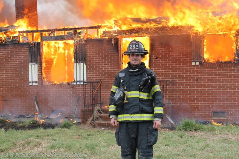 Firefighter Ross Weiss