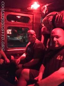 The fellas at Garden Spot Firehouse 1 took us to their other firehouse in style.